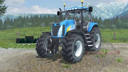 New Holland T8020 realistic exhaust para Farming Simulator 2013