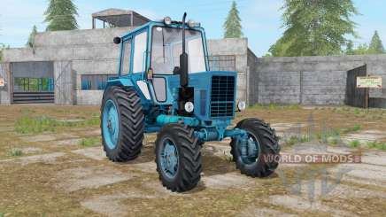 MTZ-82 Belarús en el color azul para Farming Simulator 2017