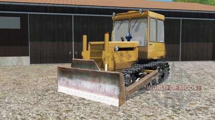 DT-75 ML con hoja de empuje para Farming Simulator 2015