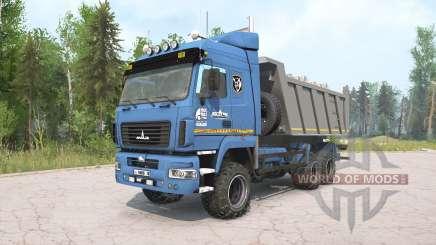 MAZ-6514H9 color azul para MudRunner