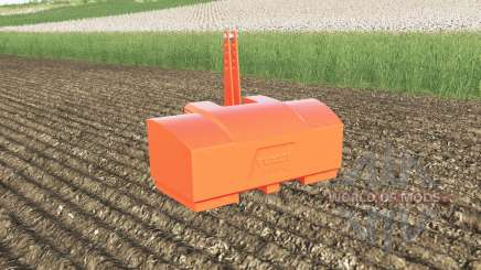 Fendt weight 2800 kg. color choice para Farming Simulator 2017