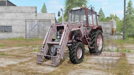 MTZ-82 Belarús con cargador para Farming Simulator 2017