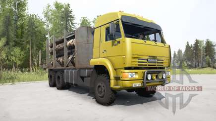 KamAZ-65225 de color amarillo brillante para MudRunner
