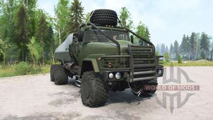 KrAZ-260 oscuro grisáceo-verde para MudRunner