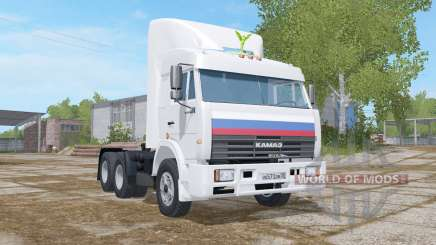 KamAZ-54115 peso 7400 kg. para Farming Simulator 2017