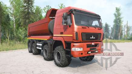 MAZ-6516В9 color rojo para MudRunner