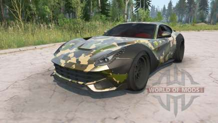 Ferrari F12berlinetta 2012 Camo Wide Body Kit para MudRunner