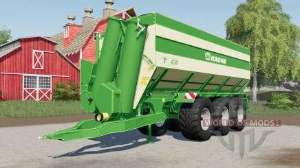 Krone TX 430 optional rear trailer hitch para Farming Simulator 2017