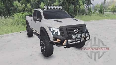 Nissan Titan Warrior concept 2016 para Spin Tires