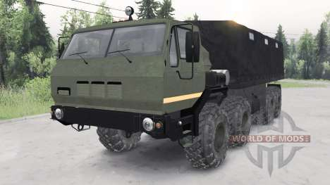 KrAZ-7E-6316 Siberia para Spin Tires