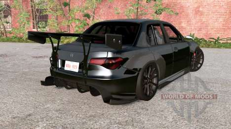 Hirochi Sunburst Black on Black v1.2 para BeamNG Drive