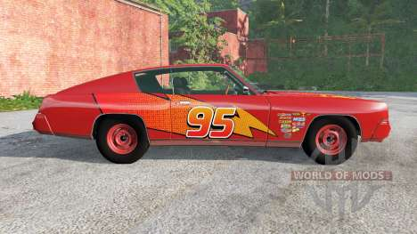 Gavril Barstow Lightning McQueen para BeamNG Drive