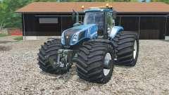 New Holland T8.320 single wide rears para Farming Simulator 2015