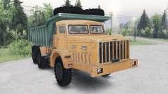 MAZ-530 verde-naranja para Spin Tires