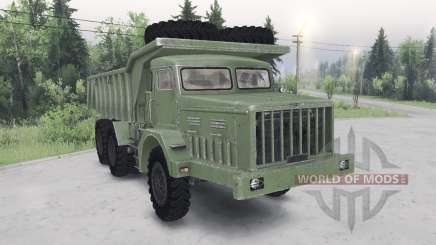 MAZ-530 color verde para Spin Tires