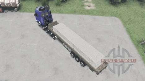 Scania R730 10x10 v2.0 para Spin Tires