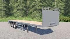 SDC flatbed trailer para Farming Simulator 2017