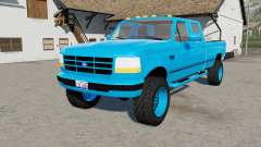 Ford F-350 Powerstroke XLT Crew Cab light blue para Farming Simulator 2017