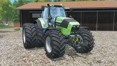 Deutz-Fahr 7250 TTV Agrotron rear twin wheels para Farming Simulator 2015