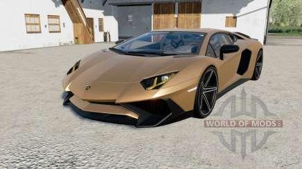 Lamborghini Aventador LP 750-4 SV (LB834) 201ⴝ para Farming Simulator 2017