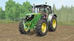John Deere 6115M〡6135M〡6155Ɱ para Farming Simulator 2017