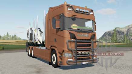 Scania S 730 timber truck para Farming Simulator 2017