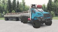 De los urales-4320-6951-74 color azul para Spin Tires