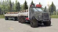 De los urales-4320-6951-74 color gris para Spin Tires