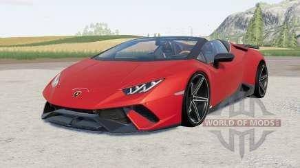Lamborghini Huracan Performante Spyder (LB724) para Farming Simulator 2017