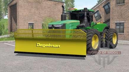 John Deere 9620R with silage blade para Farming Simulator 2017