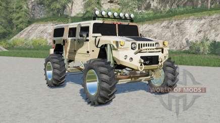 Hummer H1 Alpha Wagon Camo lifted para Farming Simulator 2017