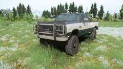 Dodge Power Ram 250 Club Cab 1990 para MudRunner