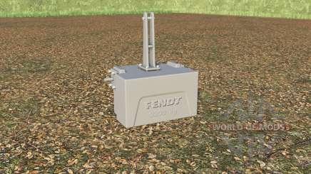 Fendt weight 3300 kg. para Farming Simulator 2017