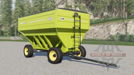 J&M 680 gravity wagon para Farming Simulator 2017
