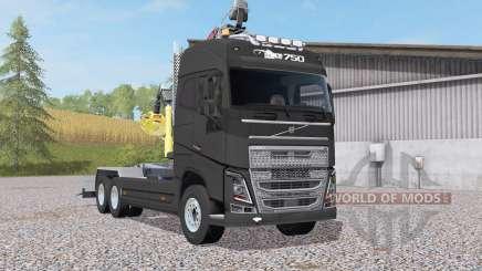 Volvo FH16 750 Globetrotter XL hooklift para Farming Simulator 2017