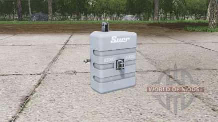 Suer weight 800 kg. para Farming Simulator 2015