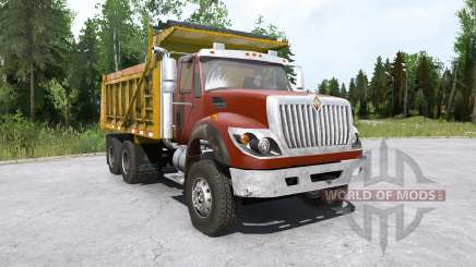 International WorkStar 6x4 Dump Truck 2008 para MudRunner