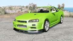 Nissan Skyline GT-R V-spec II (BNR34) Ձ000 para BeamNG Drive
