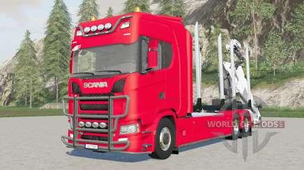 trucƙ de madera Scania S 730 para Farming Simulator 2017