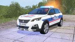 Peugeot 5008 Police National para Farming Simulator 2017