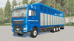 MAN TGX Livestock Truck increased load capacity para Farming Simulator 2017