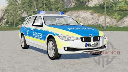 BMW 318d Touring Polizei FuStW (F31) 2015 para Farming Simulator 2017