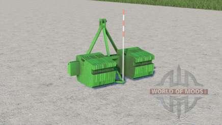 John Deere double weight para Farming Simulator 2017