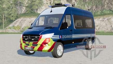 Mercedes-Benz Sprinter 319 CDI 4x4 Gendarmerie para Farming Simulator 2017
