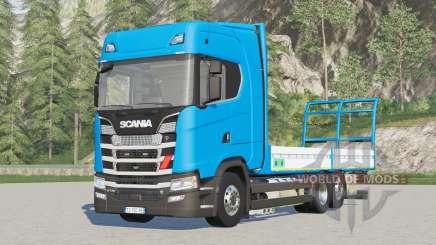 Scania serie S Highline〡platforma para bale v1.3 para Farming Simulator 2017