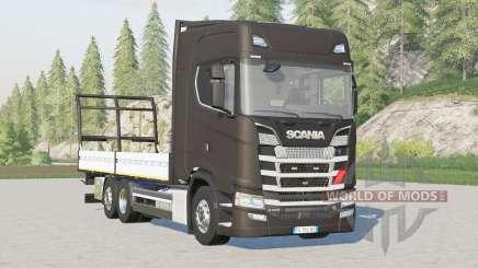 Scania serie S Highline〡plataforma para fardos para Farming Simulator 2017