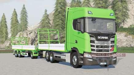 Scania serie S Highline〡platforma para bale v1.3.0.3 para Farming Simulator 2017
