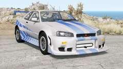 Nissan Skyline GT-R (R34) 2 Fast 2 Furious para BeamNG Drive