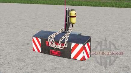Fendt weight 2500 kg. para Farming Simulator 2017