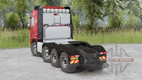 Volvo FH16 750 8x8 tractor Globetrotter cab para Spin Tires